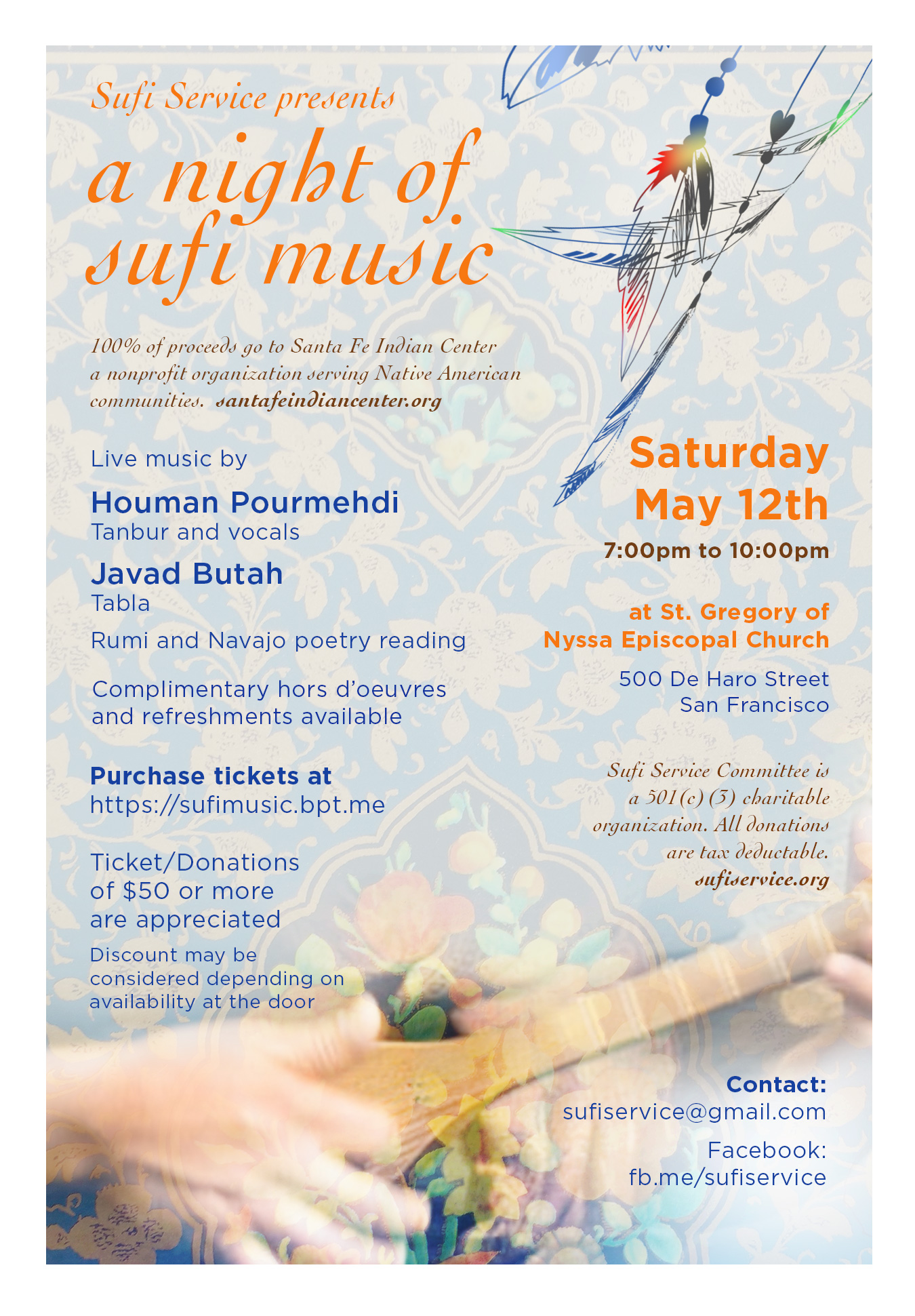 Concert on May 12th – Persian Sufi Music and Poetry
